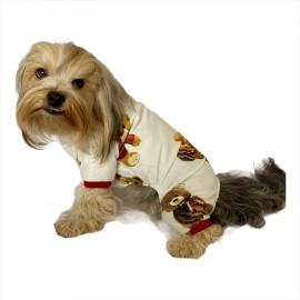 Teddy Red Penye Tulum Köpek Tulumu  Köpek Pijaması