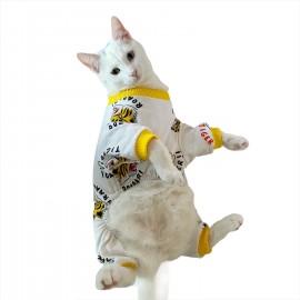 Tiiger Penye Tulum Kedi Tulumu Kedi Elbisesi