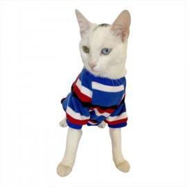 Tommy Colours Oval Yaka Tişört Kedi Kıyafeti Kedi Elbisesi