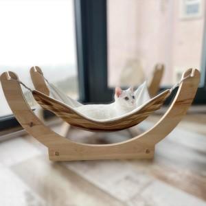 White KaTe Ahşap Kedi Hamağı , Kedi Yatağı, Kedi evi