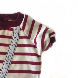 Beck Red Stripes Oval Yaka Tişört Kedi Kıyafeti Kedi Elbisesi