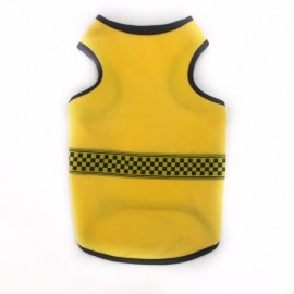 Yellow Black Checker Atlet Kedi Kıyafeti Kedi Elbisesi
