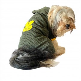 Yellow Bunny Green Köpek Tulumu Köpek Kıyafeti