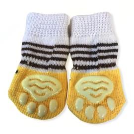 Yellow Smiley Köpek Çorabı
