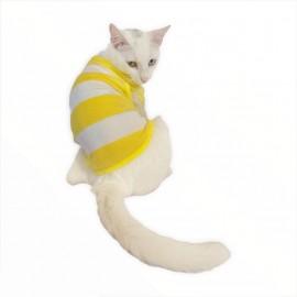 Yellow White Atlet  by Kemique  Kedi Kıyafeti Kedi Elbise